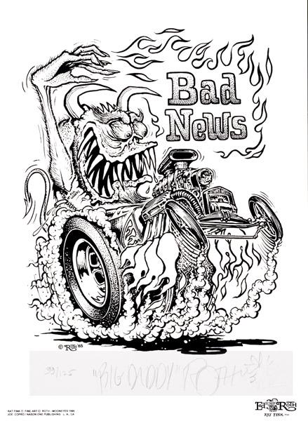 rat fink coloring pages - photo#17